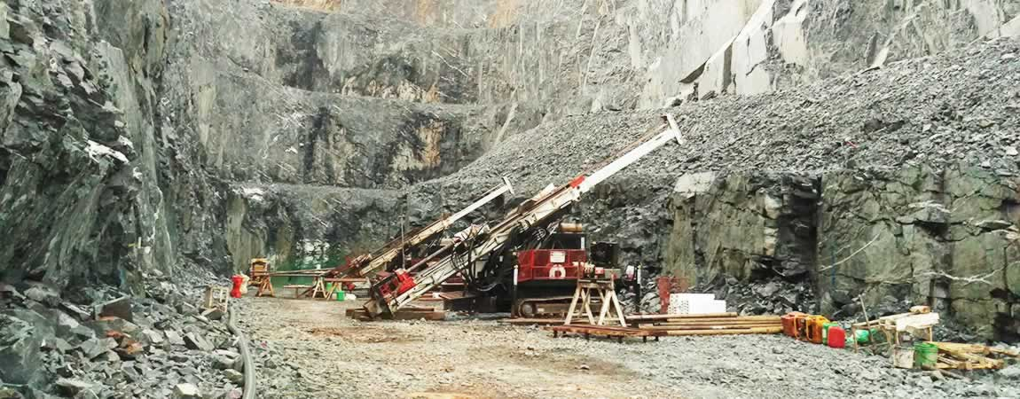 shallow angle diamond drilling rigs