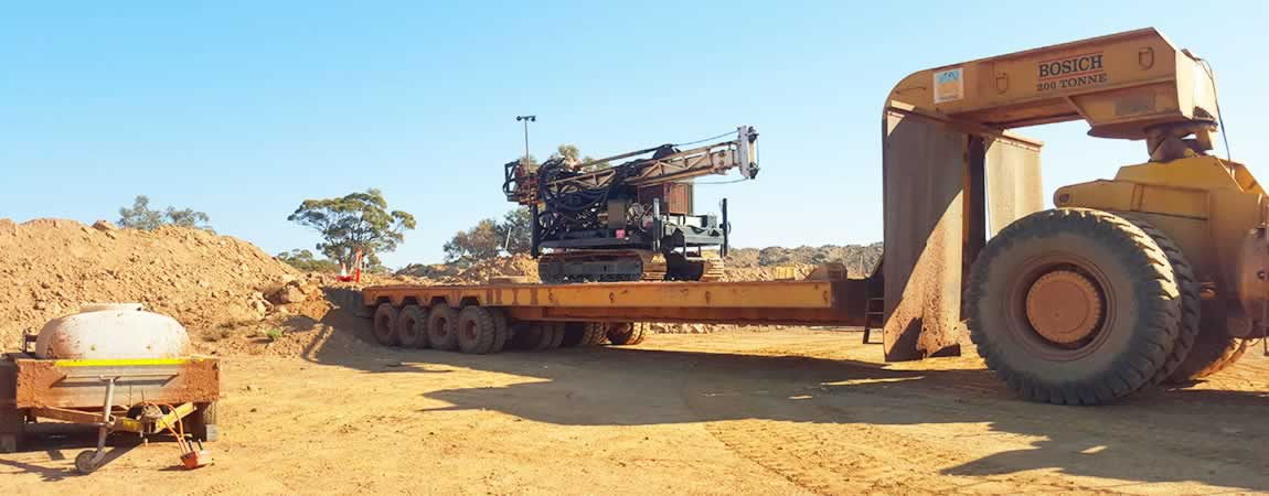 small footprint drill rigs